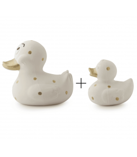 PACK: XL+Small duck dots gold
